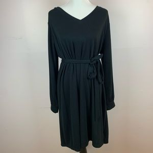 Ingrid & Isabel Black Long Sleeve Maternity Dress